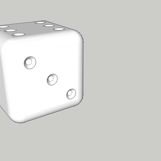 Download free 3D printer designs dice, stuffing article, honorin