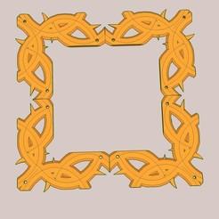 Imprimir en 3D gratis decoración de marco cuadrado, honorin