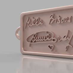 55dd9bb8-afe2-49a0-97f8-1a1b46b3f6de.PNG Download free STL file Annie Cordy Tribute Keychain • 3D printing design, WSDstudio3D