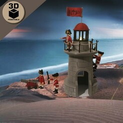 playmobil_lighthouse1.jpg Download STL file Playmobil LightHouse / Beacon / Watchtower • Object to 3D print, sokinkeso