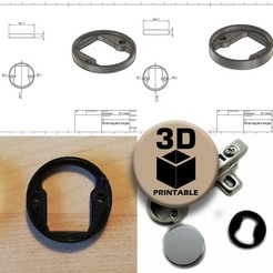 picmain.jpg Télécharger fichier STL Remplacement d'une plaque de charnière pour une porte en verre IKEA • Modèle pour imprimante 3D, sokinkeso