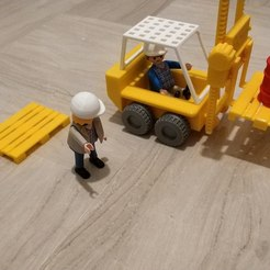 IMG_20190319_001434.jpg Download STL file Forklift Set for Playmobil • 3D printable template, sokinkeso