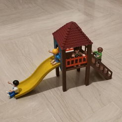 IMG_20200426_222020.jpg Download STL file Playmobil playground slide • 3D printable model, sokinkeso