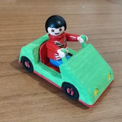 Download free STL Playmobil kids mini car, sokinkeso