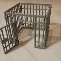IMG_20200110_072604.jpg Download free STL file Playmobil animal cage / criminal prison • Model to 3D print, sokinkeso