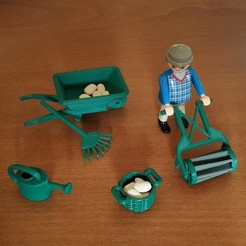 IMG_20200417_184503.jpg Download STL file Playmobil Gardener Set • Design to 3D print, sokinkeso