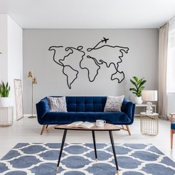 Descargar diseños 3D WORLD MAP (Decorative Wall), MatiSDelgado