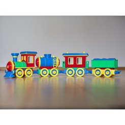 1.jpg Download STL file Toy train construction set - whole train combo • 3D print object, kozakm