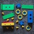 cargo_set.jpg Download STL file Toy train construction set - whole train combo • 3D print object, kozakm