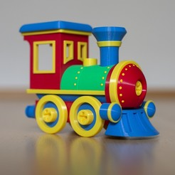loco.jpg Download STL file Toy train locomotive construction set • 3D print template, kozakm
