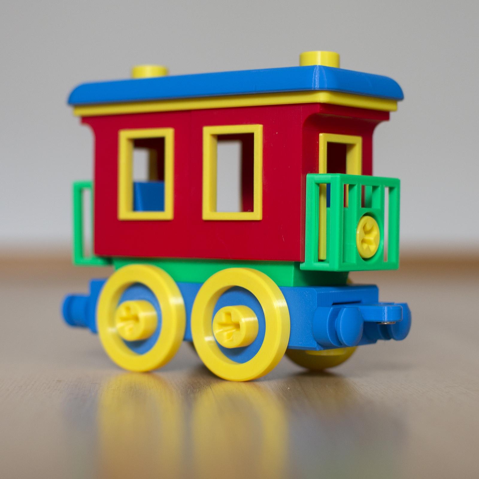passenger.jpg Download STL file Toy train construction set - whole train combo • 3D print object, kozakm