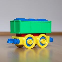 3.jpg Télécharger fichier STL Jeu de construction de wagons de marchandises pour train miniature. • Plan à imprimer en 3D, kozakm