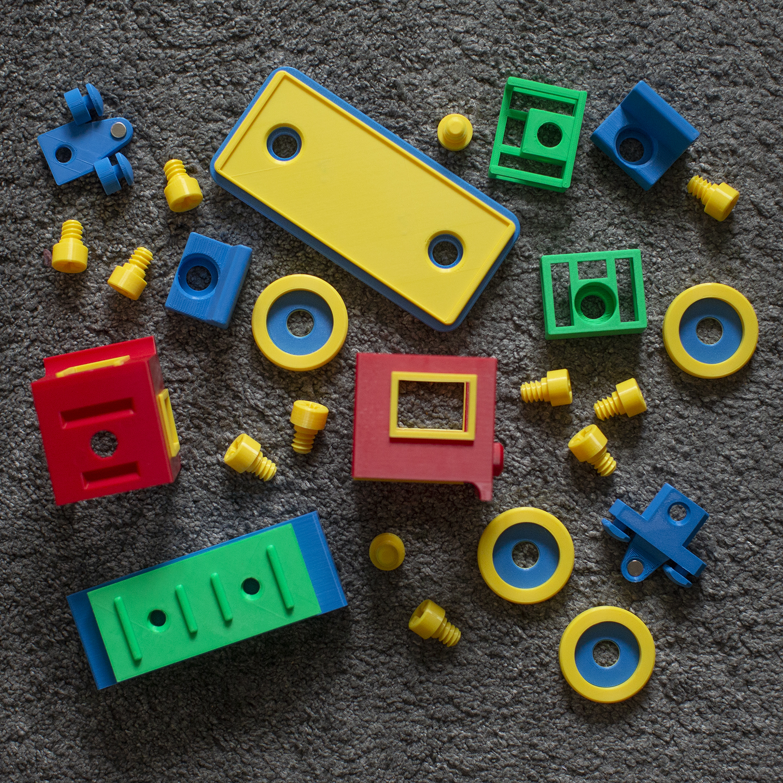 passengers_set.jpg Download STL file Toy train construction set - whole train combo • 3D print object, kozakm