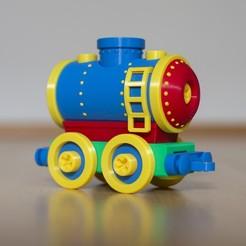 tanker.jpg Download STL file Toy train tanker car construction set • 3D printable design, kozakm