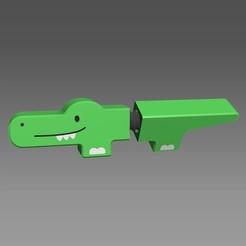 krokodyl.jpg Télécharger fichier STL gratuit Jouet en forme de vis de crocodile • Plan à imprimer en 3D, kozakm