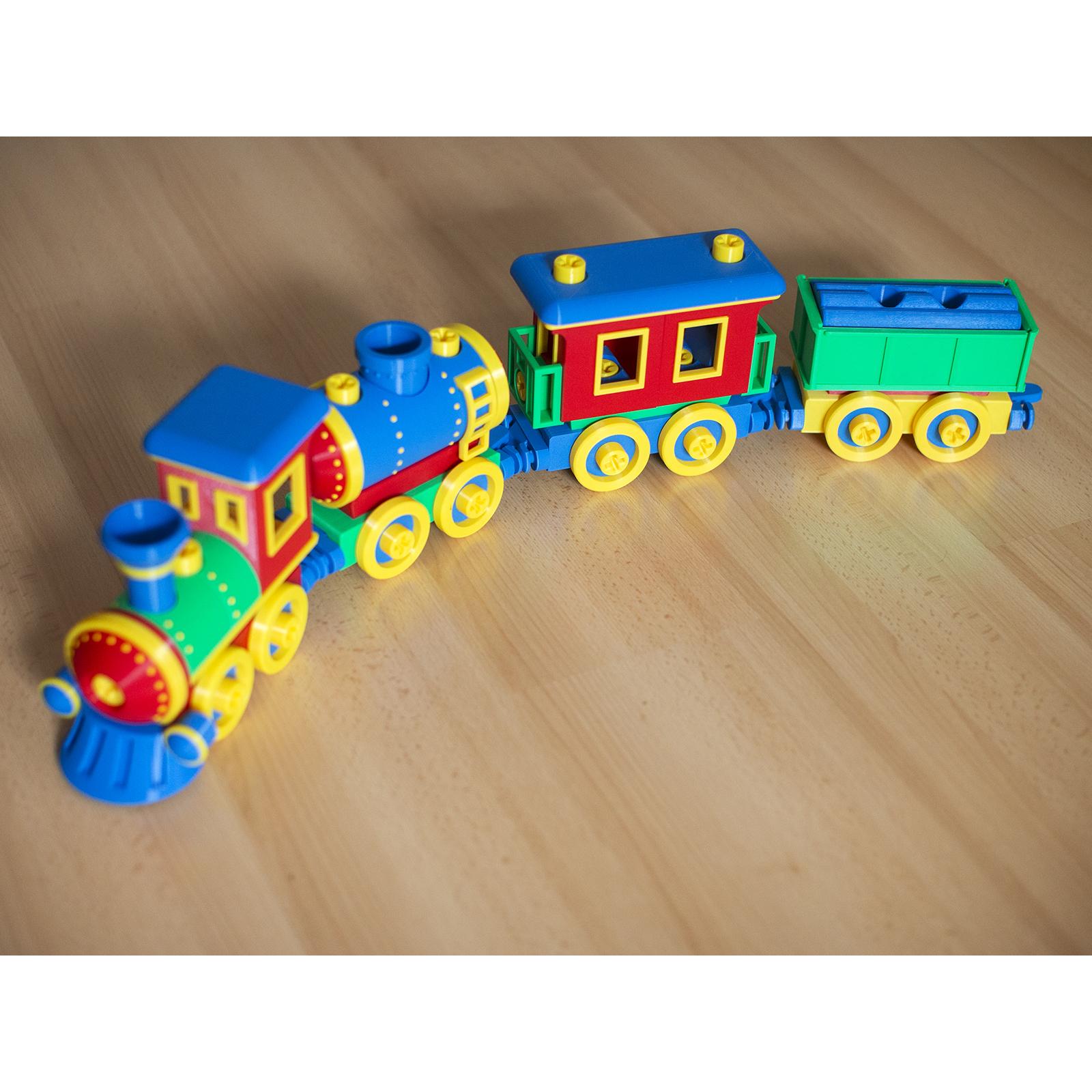 6.jpg Download STL file Toy train construction set - whole train combo • 3D print object, kozakm