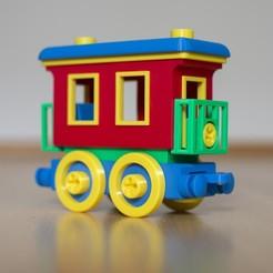 passenger.jpg Download STL file Toy train passenger car construction set • 3D printer template, kozakm