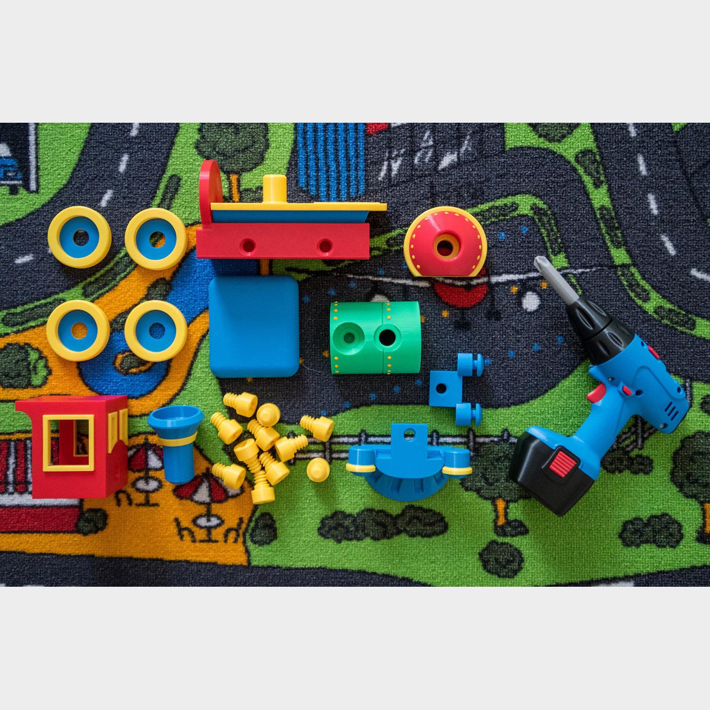 loco_set.jpg Download STL file Toy train construction set - whole train combo • 3D print object, kozakm