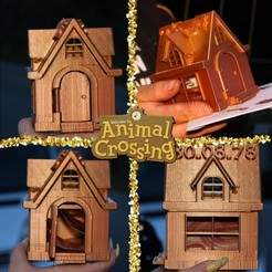 Download free 3D printing models Animal Crossing house money bank, Lillywork