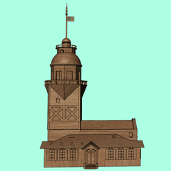 8.png Download STL file Maiden's Tower • 3D printable template, Soulmate