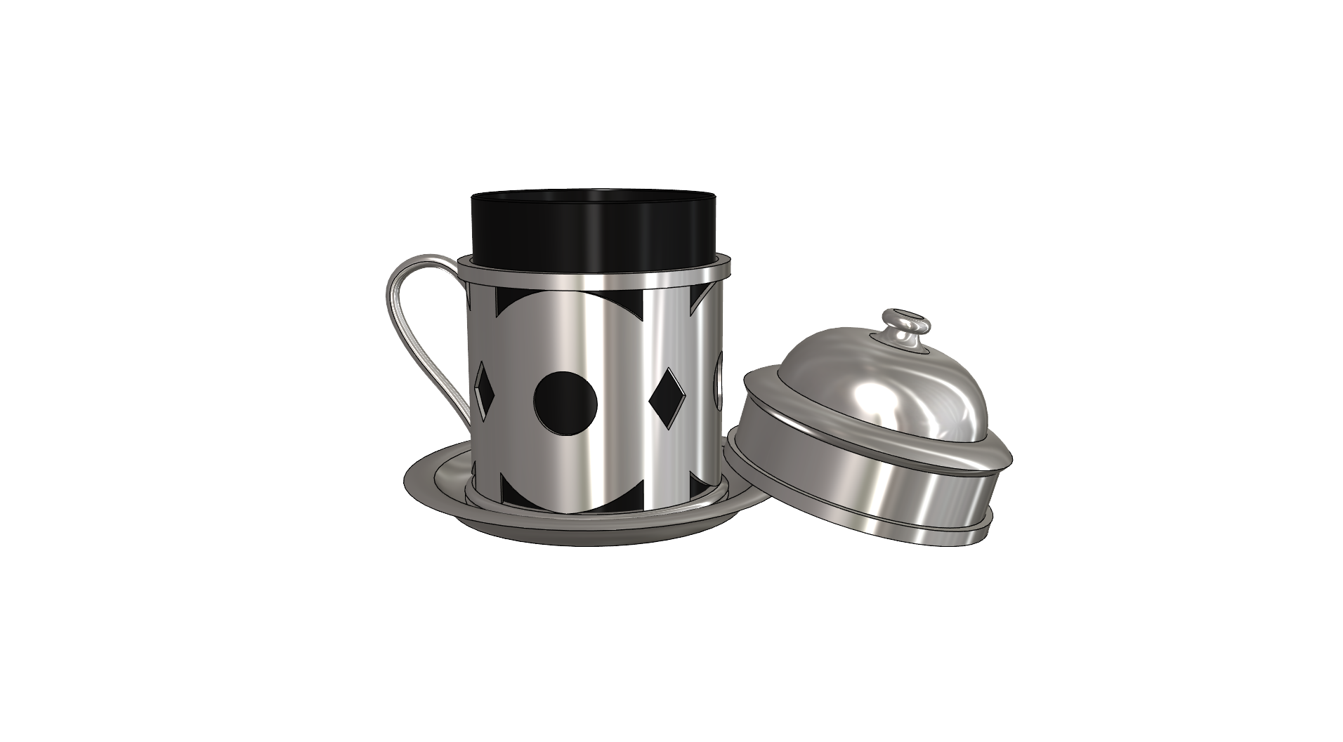 GENEL (2).png Download free STL file Coffee Cup • 3D printing template, Soulmate