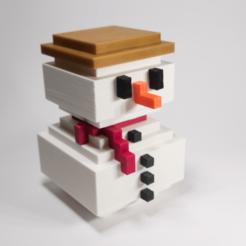 Descargar archivos STL Muñeco de nieve de 8 bits, Kimframes