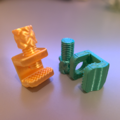 KIM01477.png Download 3MF file Filament Clip with Screw SE • 3D printable design, Kimframes