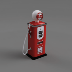 Descargar archivos STL Bomba de gasolina - Soporte para el cable de carga del teléfono móvil, cosmemdp