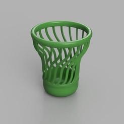 Télécharger STL Vase avec une spirale, cosmemdp