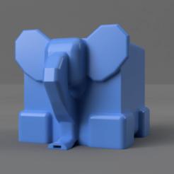 1.png Télécharger fichier STL Eléphant - Passoire à couverts • Plan pour imprimante 3D, cosmemdp