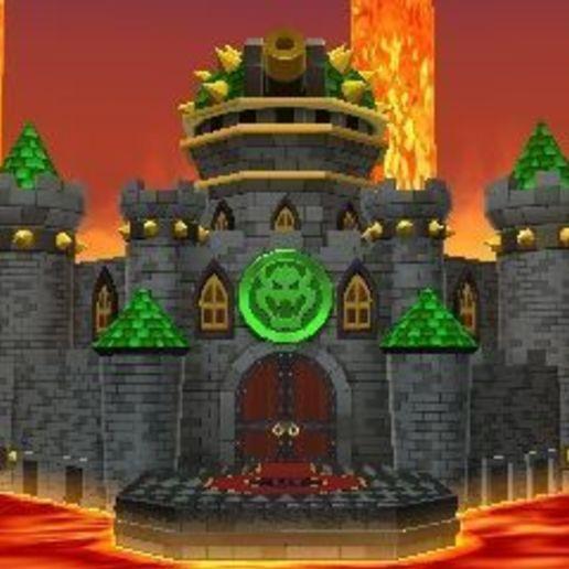 Télécharger objet 3D gratuit Château Mario Bros, robotmecatronix