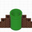 Descargar archivo 3D gratis Mario Warp Portaplumas Grande, GunGeek