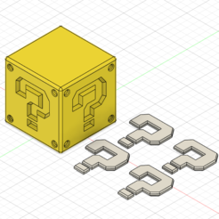 Download 3D printer templates Mario Question Block, GunGeek