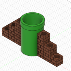 Download free 3D printer files Mario Warp Pipe Pen Holder Large, GunGeek