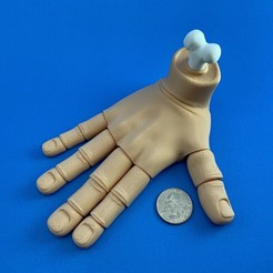 Download STL file Flexi PRINT-IN-PLACE Hand • 3D printing model, lotsamillions