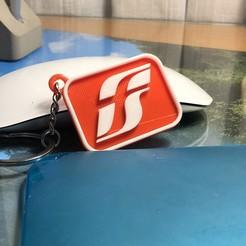 Download 3D printing files RFI logo keychain, lucaguida39