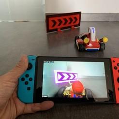 pht1.jpeg Download free STL file Mario Kart Live Home Circuit direction panel • 3D printable model, rdusud