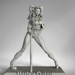Download free 3D model harley quinn, christmk3