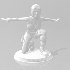 Download free 3D printing templates lara croft, christmk3