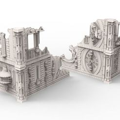 "untitled45.jpg Download free STL file 2 6x6x6"" Industrial Building sample for wargame • 3D printer object, Alario"