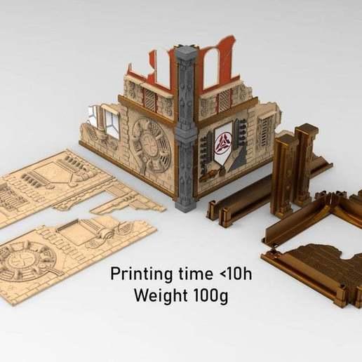 Printing_time.jpg Download free STL file Damocles kickstarter modular industrial buildings sample • 3D print design, Alario