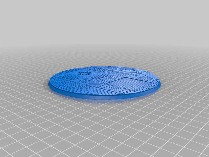 Round_130mm_base_INDR_01.png Download free STL file Sci-fi industrial bases all sizes all shapes • 3D printing template, Alario