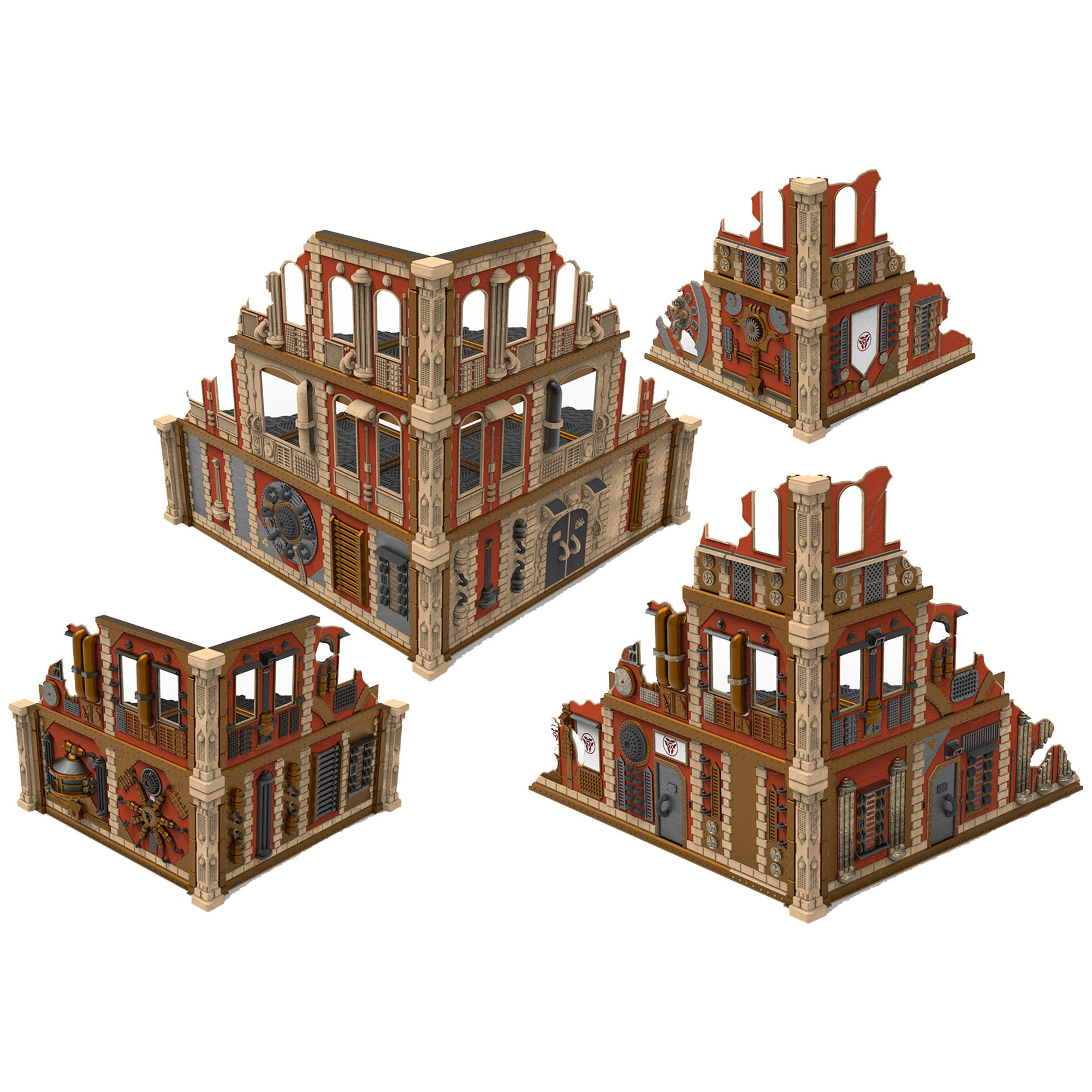 batiments eb.jpg Download STL file Modular industrial buildings for wargaming steampunk grimdark terrain • 3D print template, Alario