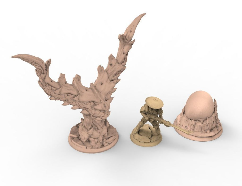 objectives_set.jpg Download free STL file tyty tyran tyranid 40k starship trooper objective marker x2 set remix • 3D printing design, Alario