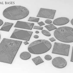 all_shapes.jpg Download free STL file Sci-fi industrial bases all sizes all shapes • 3D printing template, Alario