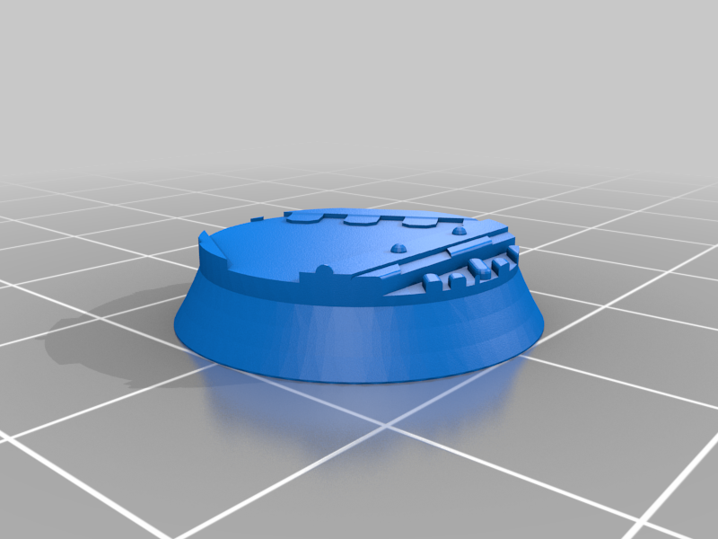 Round_20mm_base_INDR_01.png Download free STL file Sci-fi industrial bases all sizes all shapes • 3D printing template, Alario