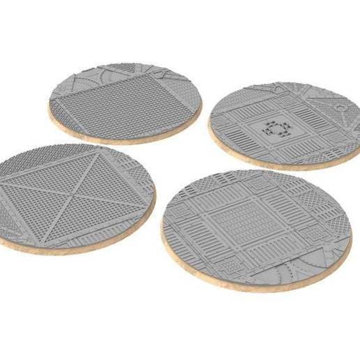 untitled.328.jpg Download free STL file Sci-fi industrial bases all sizes all shapes • 3D printing template, Alario