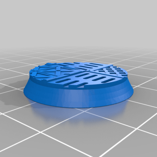 Round_25mm_base_INDR_01.png Download free STL file Sci-fi industrial bases all sizes all shapes • 3D printing template, Alario