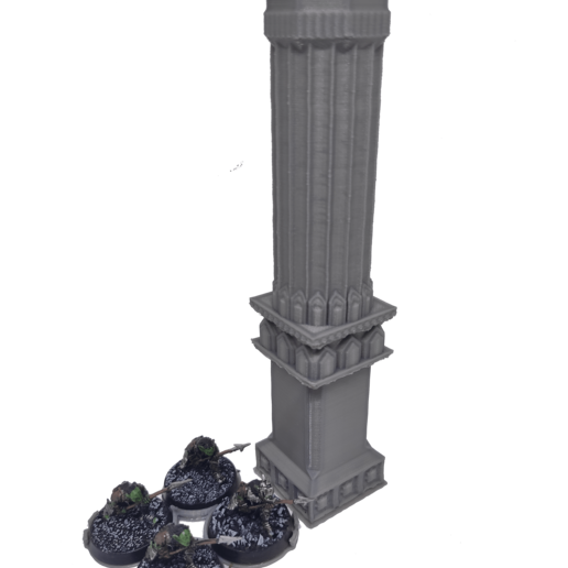 IMG_20200914_155449.png Download STL file 3D printable pillar and assorted bases for dwarf mine • 3D printer design, Alario
