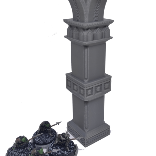 IMG_20200914_155412.png Download STL file 3D printable pillar and assorted bases for dwarf mine • 3D printer design, Alario